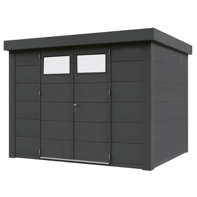 ger tehaus flachdach metallger tehaus 298x238 granitgrau. Black Bedroom Furniture Sets. Home Design Ideas