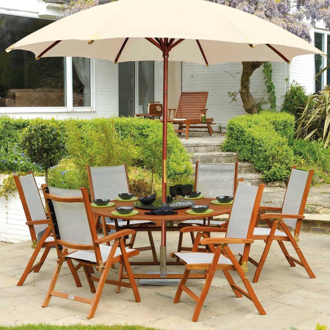 gartenstuhl alexander rose cornis hochlehner textilene holzstuhl klappstuhl gartenm bel. Black Bedroom Furniture Sets. Home Design Ideas
