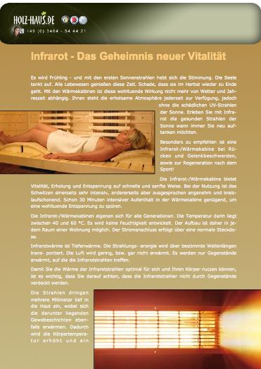 Sauna infrarot vor und nachteile