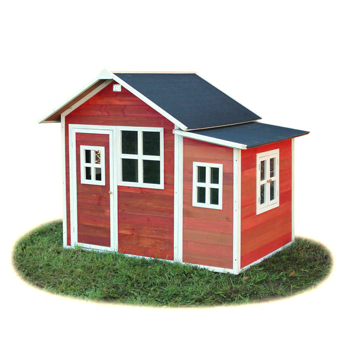 Holz Kinder Spielhaus Großes Holz Spielhaus Rot Gebeizt Kaminöfen