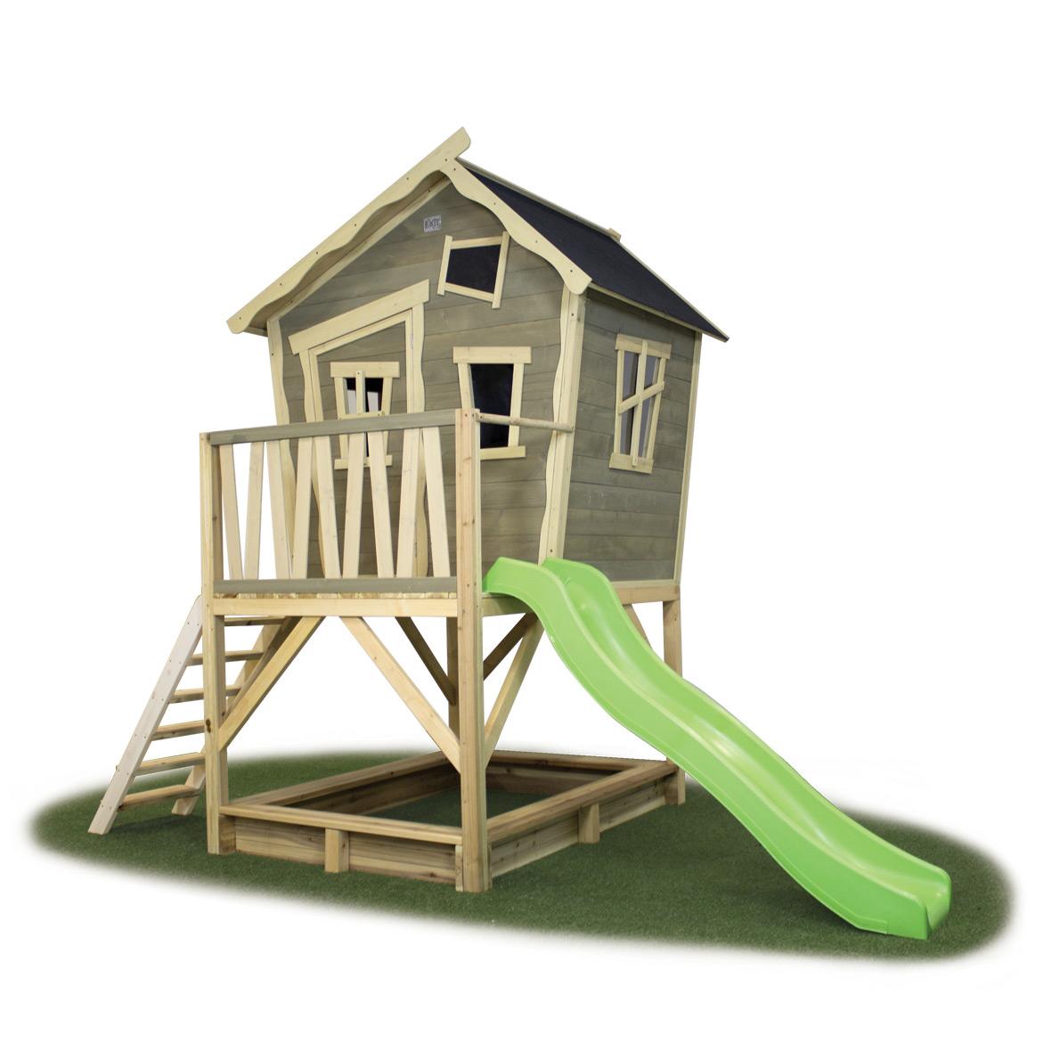 Kinder Spielhaus Exit Crooky 500 Kinderspielhaus Holz Stelzenhaus