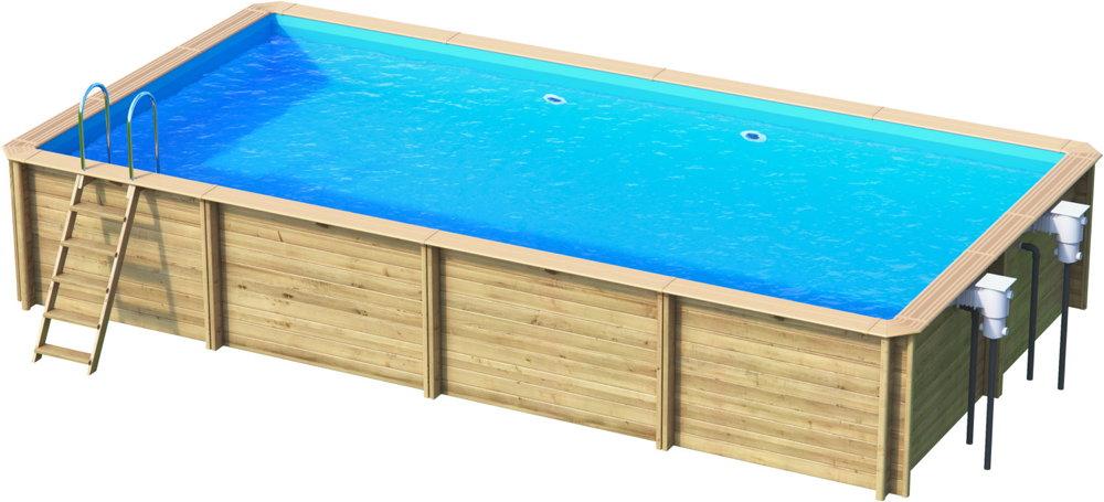 Holzpool rocta6x3 schwimmbecken blockbohlen bausatz for Gartenpool holz