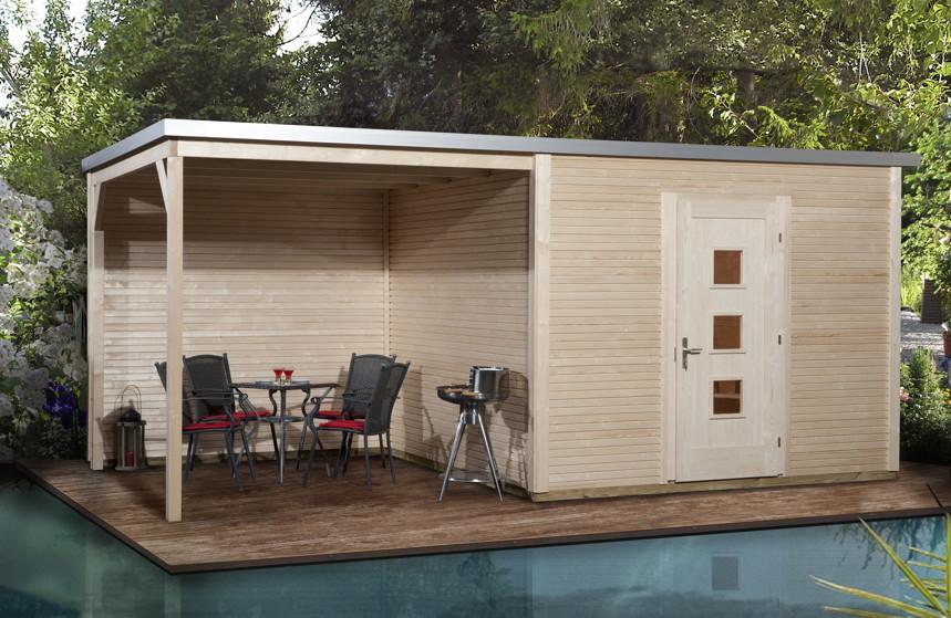 Gartenhaus flachdach designhaus wekaline 413 for Landi meubles de jardin