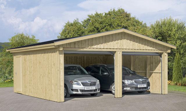 garage falun doppelgarage garage mit dachschalung ohne. Black Bedroom Furniture Sets. Home Design Ideas