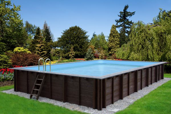 Holzpool 8x5m mega schwimmbecken blockbohlen bausatz for Gartenpool eingebaut