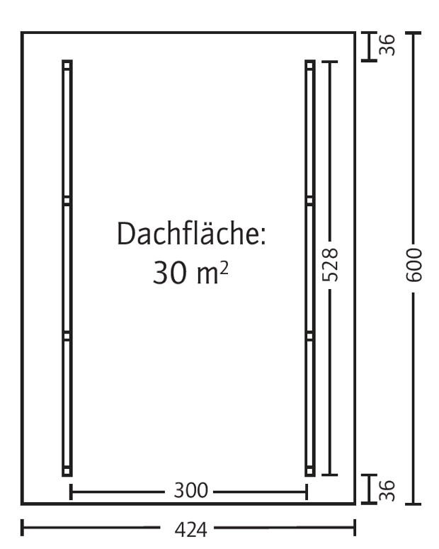 Fachwerk Carport: Holz-Carport SKANHOLZ «Schwarzwald Einzelcarport Mit Dach