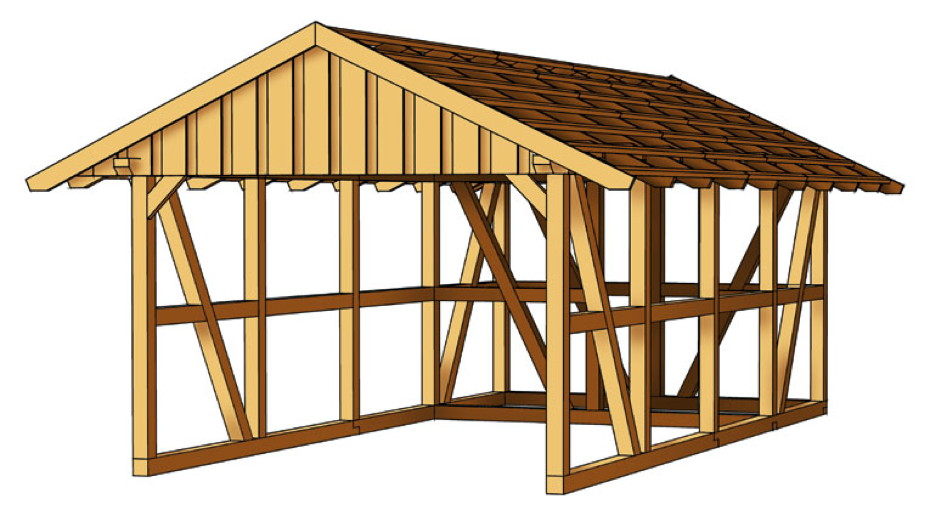holz carport skanholz schwarzwald fachwerk einzelcarport ebay. Black Bedroom Furniture Sets. Home Design Ideas