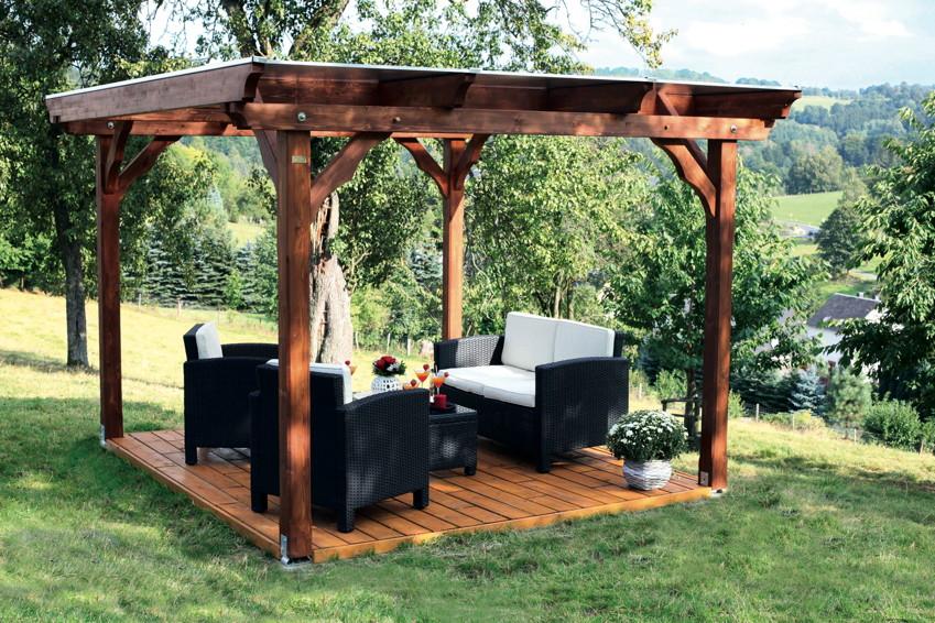 Schön Pavillon Garten Laube aus Holz Pavillion JB99