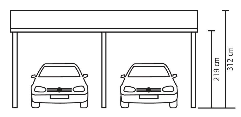 holz carport skanholz harz pultdach doppelcarport ebay. Black Bedroom Furniture Sets. Home Design Ideas