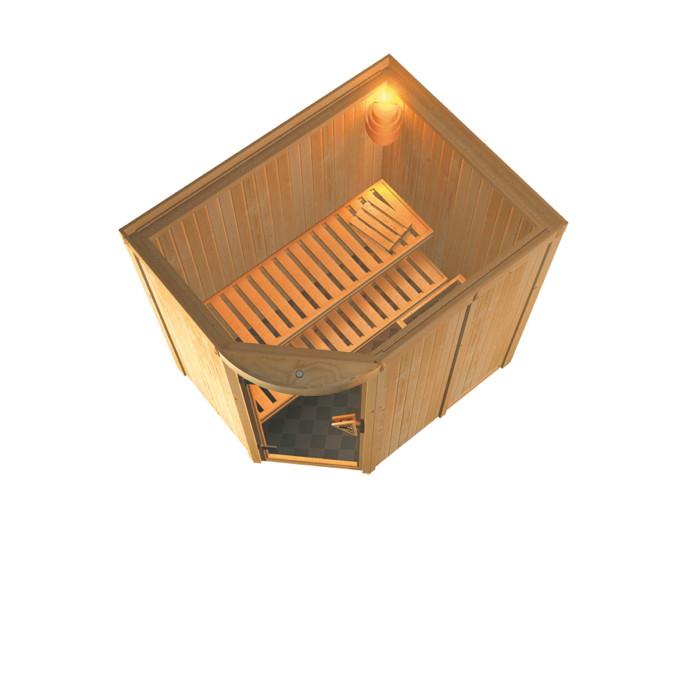 heimsauna karibu lavea eckeinstieg rundbogensauna. Black Bedroom Furniture Sets. Home Design Ideas