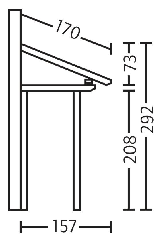 holz vordach paderborn f r haust ren pultdach typ 6 ebay. Black Bedroom Furniture Sets. Home Design Ideas