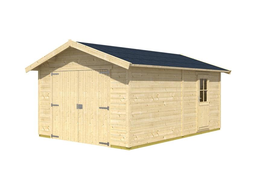 garage skanholz visby einzelgarage holzgarage bausatz 28mm wandst rke holz angebot. Black Bedroom Furniture Sets. Home Design Ideas