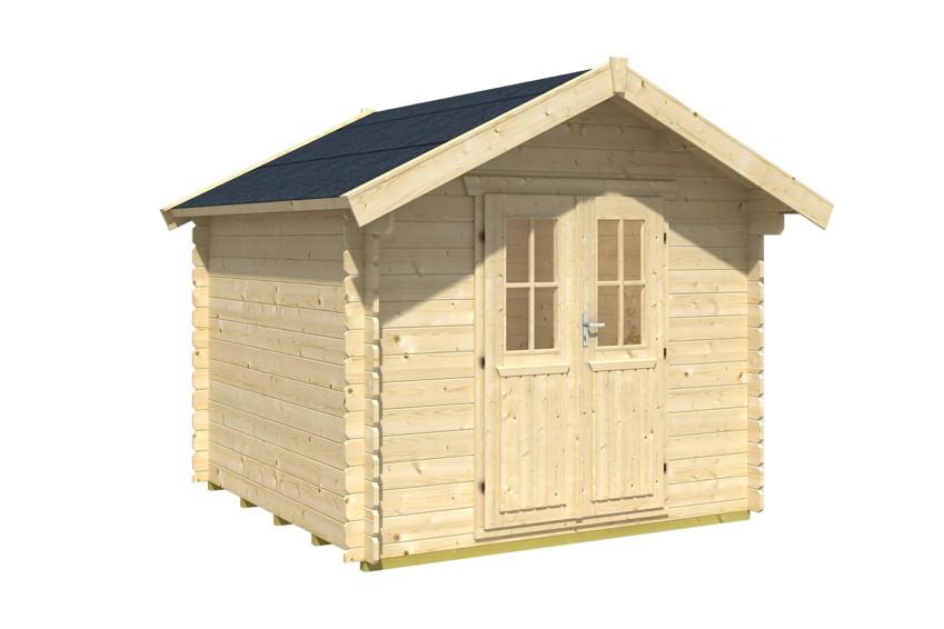 gartenhaus skanholz palma blockbohlen holzhaus doppelt r gartenhaus aus holz g nstig kaufen. Black Bedroom Furniture Sets. Home Design Ideas