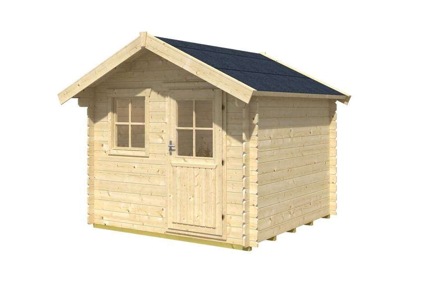 Gartenhaus skanholz porto blockbohlen holzhaus mit for Fenster gartenhaus