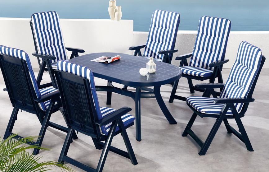 Gartenstuhl Kunststoff Blau BD37 – Hitoiro