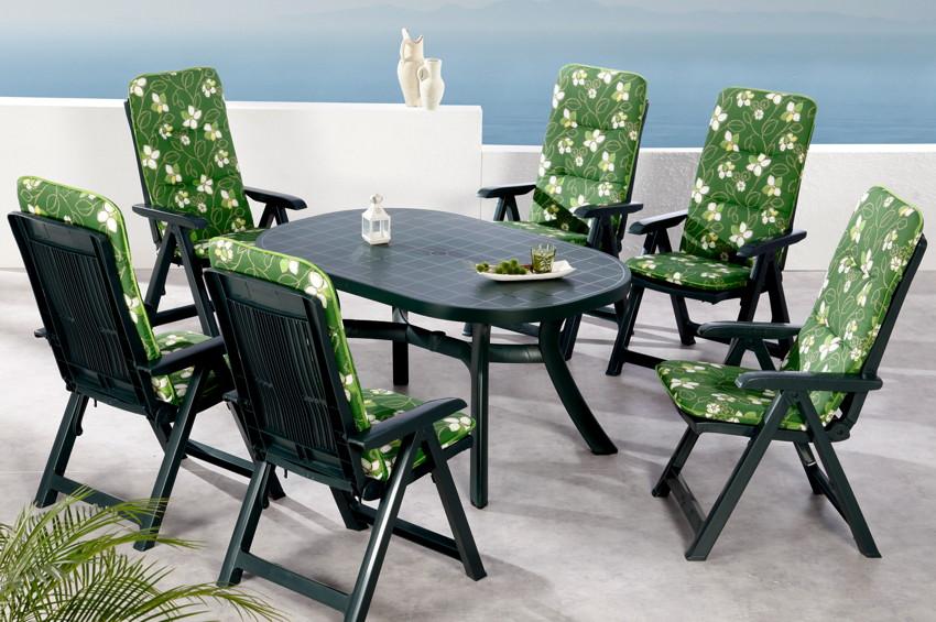 Gartenmobel Aus Bambus Und Rattan : Set BEST «Santiago 13tlg» KunststoffSitzgruppe Set mit Auflagen