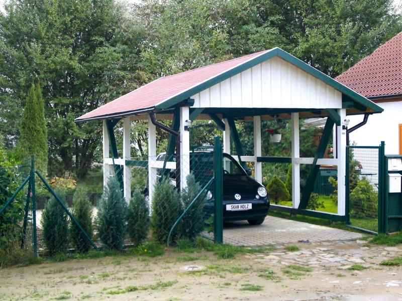 holz carport skanholz schwarzwald fachwerk einzelcarport carport aus holz selber bauen. Black Bedroom Furniture Sets. Home Design Ideas