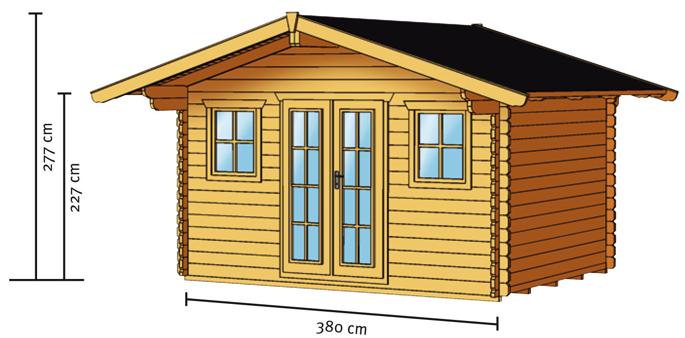 gartenhaus skanholz davos panorama doppelt r blockbohlen holzhauas gartenhaus aus holz. Black Bedroom Furniture Sets. Home Design Ideas