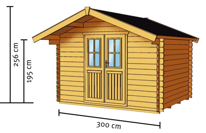 gartenhaus skanholz faro blockbohlen holzhaus doppelt r. Black Bedroom Furniture Sets. Home Design Ideas