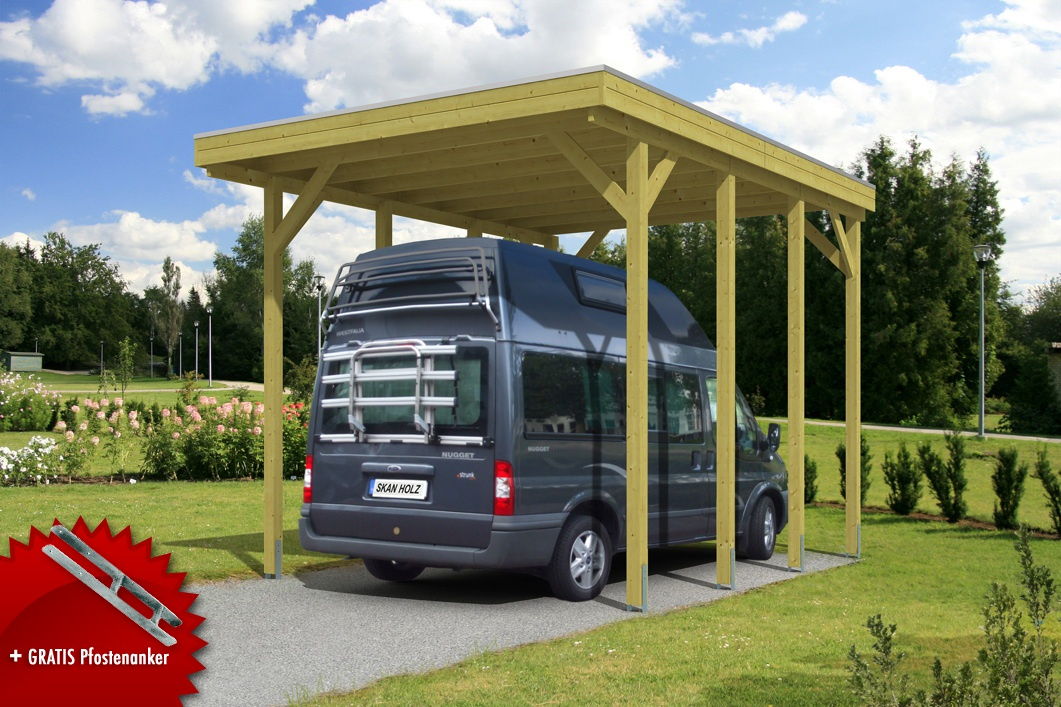 caravan carport bausatz skanholz friesland caravan carport aluminiumdach vom garten fachh ndler. Black Bedroom Furniture Sets. Home Design Ideas