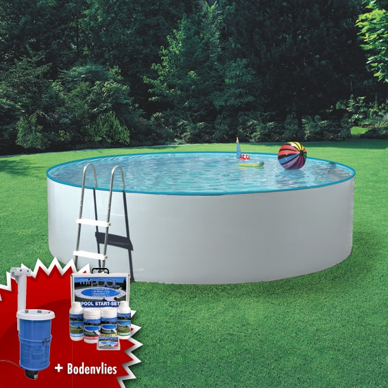 Mypool 3m rund stahlwandbecken swimmingpool inkl for Pool rund 3m