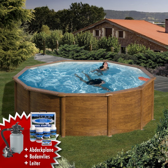 Mypool poolset trend sandy stahlwandbecken swimmingpool for Pool rund 3m