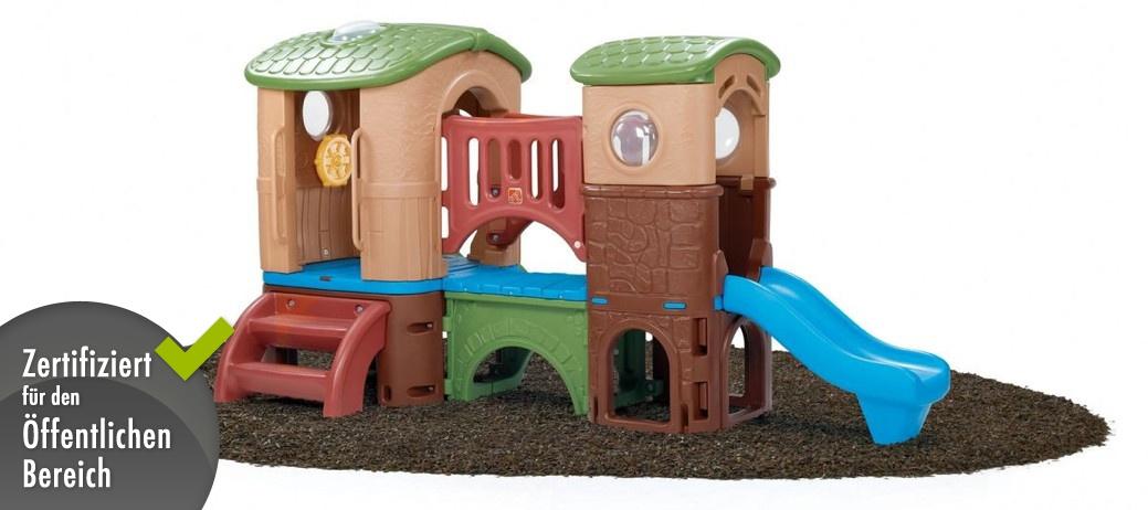 kinder kletterturm step 2 clubhaus spielhaus aus kunststoff mit rutsche spielturm. Black Bedroom Furniture Sets. Home Design Ideas