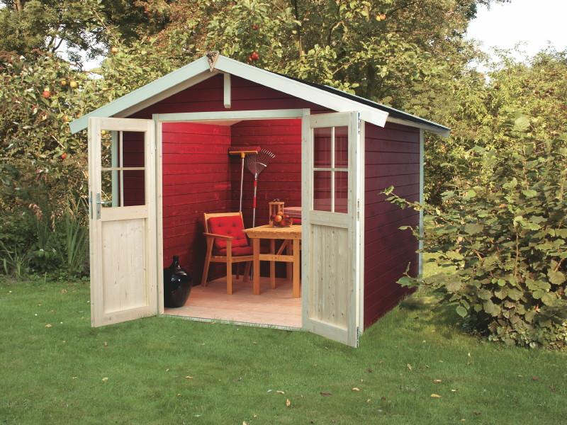 Gartenhaus Holz Endbehandelt ~ KARIBU «UNGERSUND  Usedom» Holz Haus Bausatz  Gartenhaus aus Holz