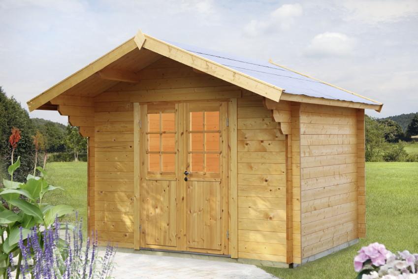 gartenhaus wolff mona 34 holz gartenhaus doppelt r. Black Bedroom Furniture Sets. Home Design Ideas