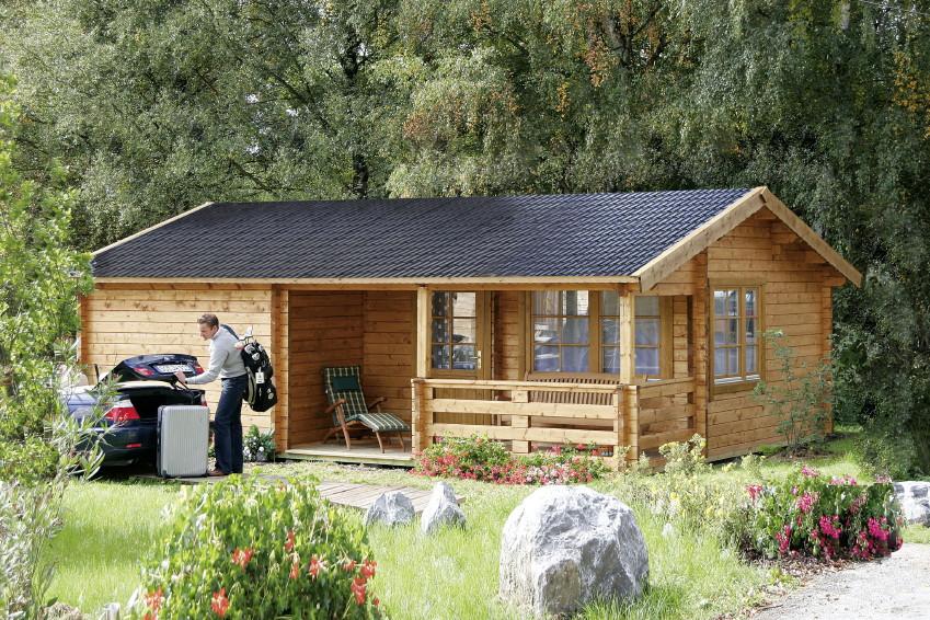 gartenhaus wolff rh n ferienhaus 70 92mm holzhaus bausatz mit veranda terrasse vom garten. Black Bedroom Furniture Sets. Home Design Ideas