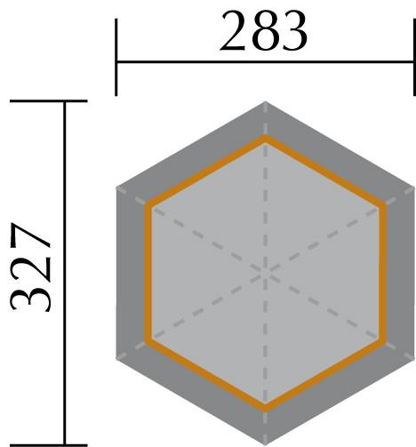 pavillon weka typ 233 sylt 4 r gen 6 eck holz. Black Bedroom Furniture Sets. Home Design Ideas