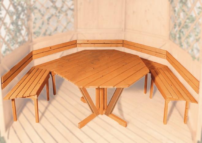 pavillon weka typ 233 sylt 4 r gen 6 eck holz pavillon ebay. Black Bedroom Furniture Sets. Home Design Ideas
