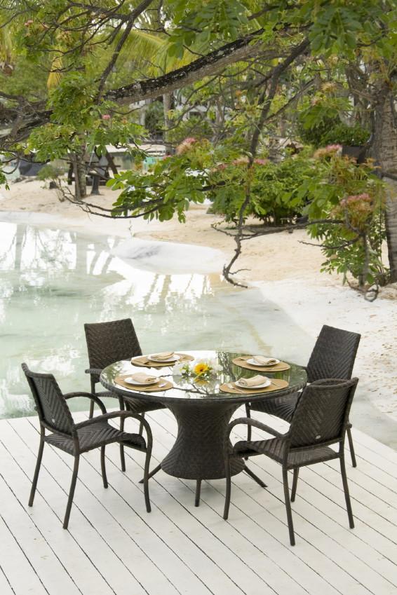 gartentisch alexander rose ocean wave tisch rund alexander rose gartenm bel serie ocean. Black Bedroom Furniture Sets. Home Design Ideas