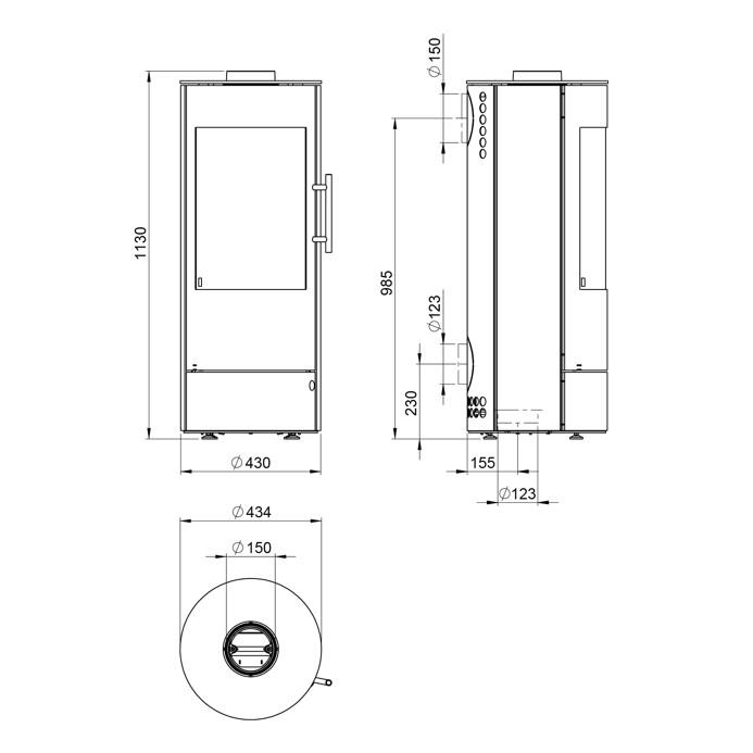 design kamin ofen olsberg k nigsh tte vela 5kw schwarz stahlkamin kaminofen kamine fen. Black Bedroom Furniture Sets. Home Design Ideas