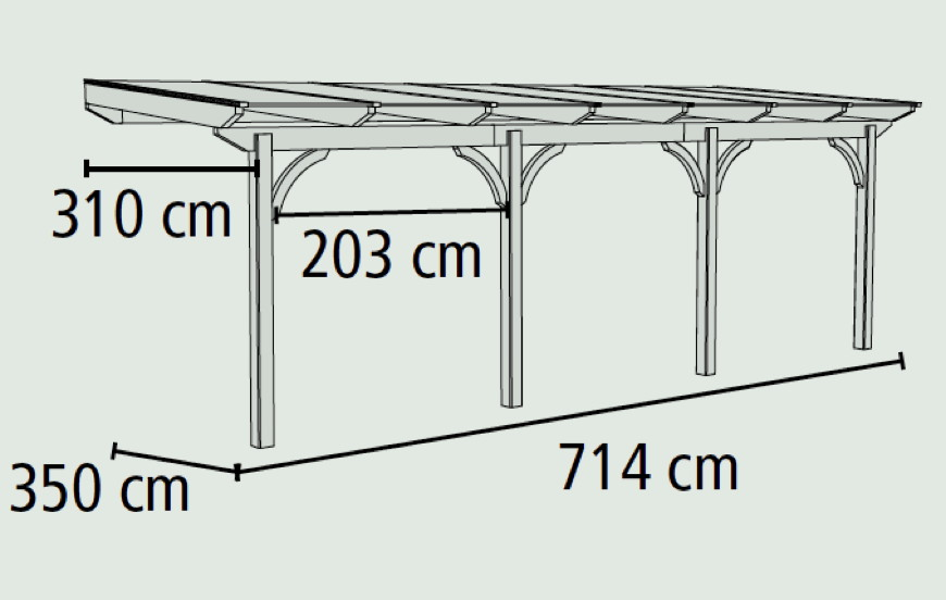 TerrassenUberdachung Holz Bauanleitung Pdf ~ Terrassenüberdachung Holz Bausatz Douglasie KARIBU «Premium
