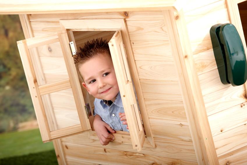 kinder holz spielhaus axi noa kinderspielhaus ebay. Black Bedroom Furniture Sets. Home Design Ideas