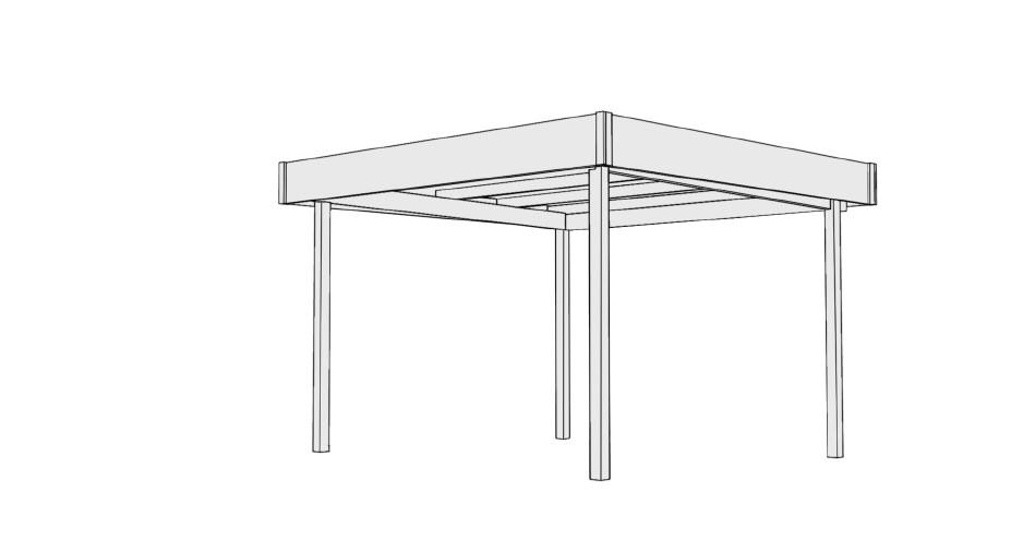 pavillon karibu flachdach 2 holz pavillon ebay. Black Bedroom Furniture Sets. Home Design Ideas