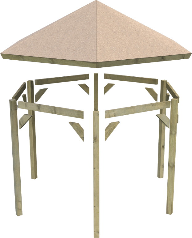 pavillon karibu oslo 6 eck holz pavillon ebay. Black Bedroom Furniture Sets. Home Design Ideas