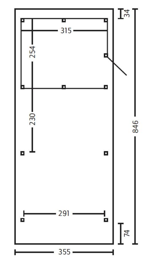 holz carport skanholz spessart flachdach einzelcarport carports aus holz g nstig kaufen im. Black Bedroom Furniture Sets. Home Design Ideas