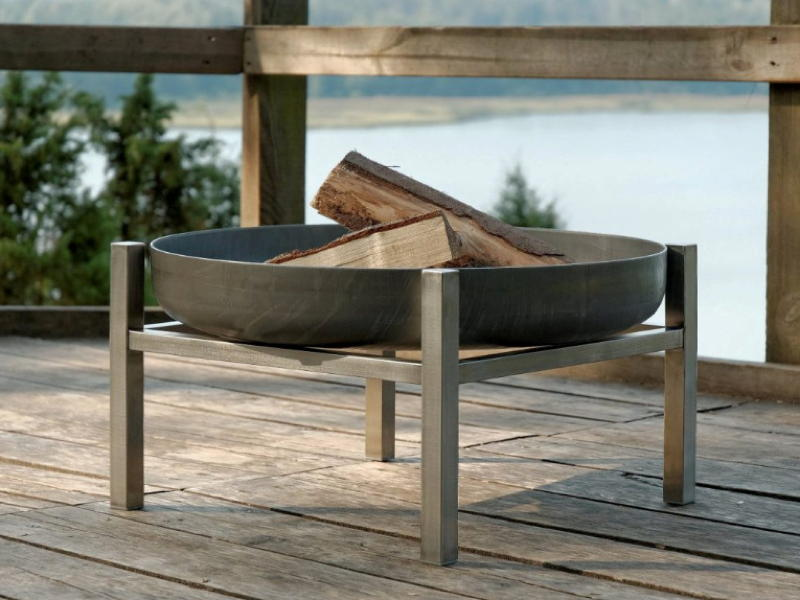 feuerschale svenskav design cube terrassenfeuer. Black Bedroom Furniture Sets. Home Design Ideas