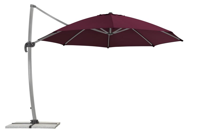 sonnenschirm schneider rhodos rondo 350cm bordeaux. Black Bedroom Furniture Sets. Home Design Ideas