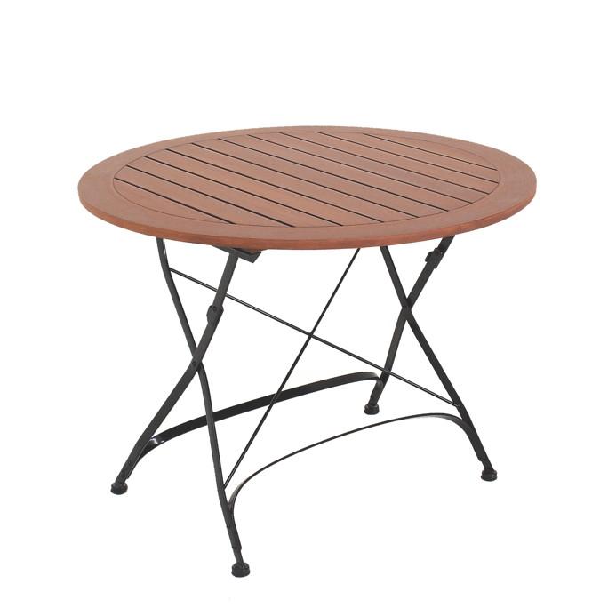 gartentisch holz metall rund. Black Bedroom Furniture Sets. Home Design Ideas