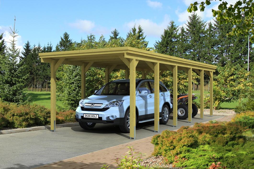 holz carport skanholz holstein flachdach einzelcarport. Black Bedroom Furniture Sets. Home Design Ideas