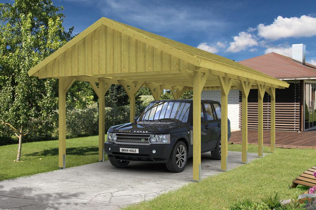 holz carport skanholz sauerland einzelcarport mit. Black Bedroom Furniture Sets. Home Design Ideas