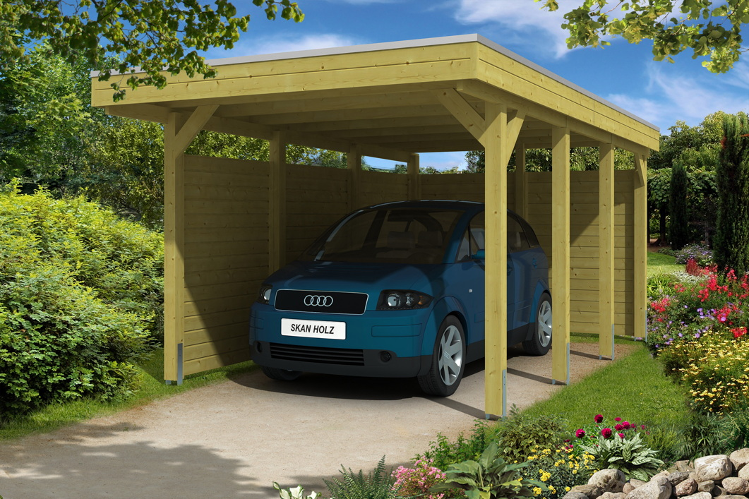holz carport bausatz skanholz friesland aluminiumdach einzelcarpot mit zubeh r vom garten. Black Bedroom Furniture Sets. Home Design Ideas