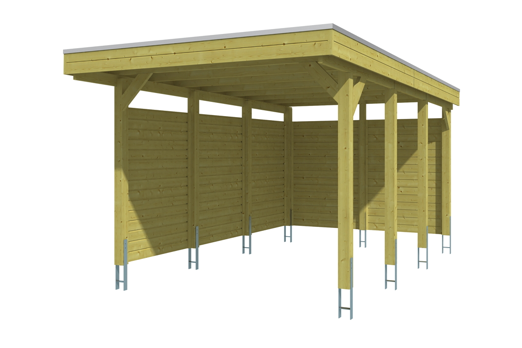 Holz carport bausatz skanholz «friesland aluminiumdach
