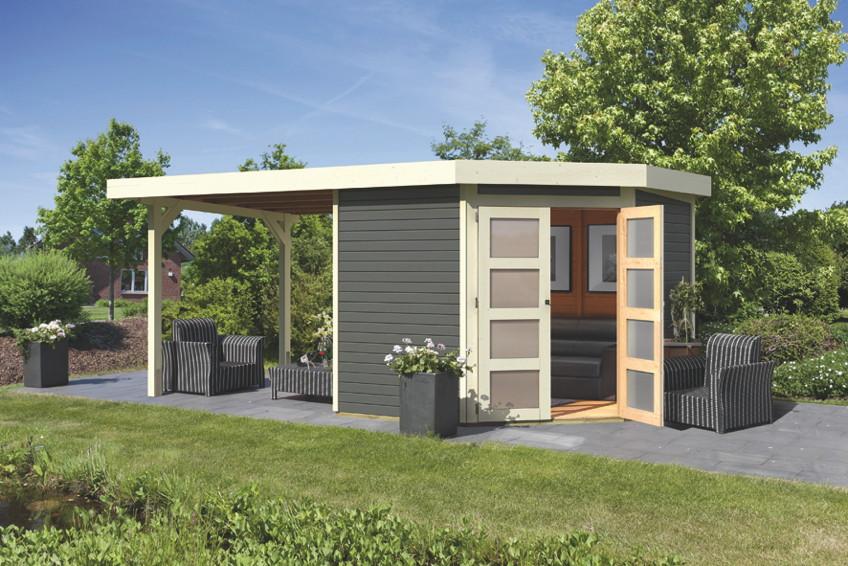 f nfeck ger tehaus 5 eck holzhaus bausatz t r auf ecke. Black Bedroom Furniture Sets. Home Design Ideas