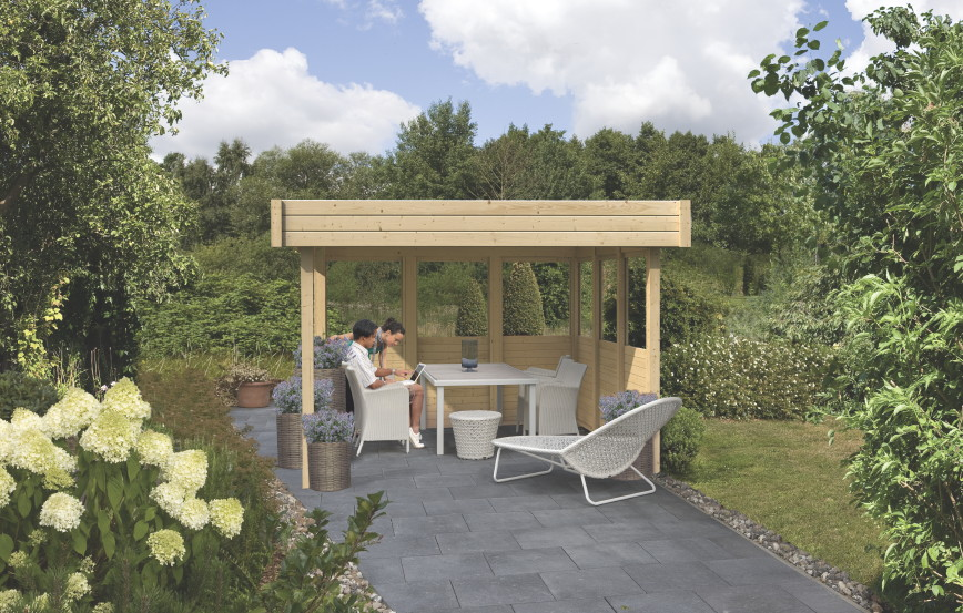 homcom outsunny luxus pavillon gartenpavillon partyzelt festzelt gartenzelt pagode 3 3 m mwd. Black Bedroom Furniture Sets. Home Design Ideas