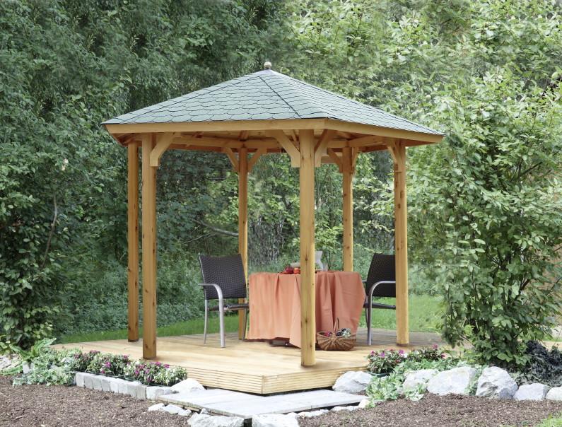 Holz Pavillon Offen Gartenpavillon 300x250cm Kaufen Holz Hausde