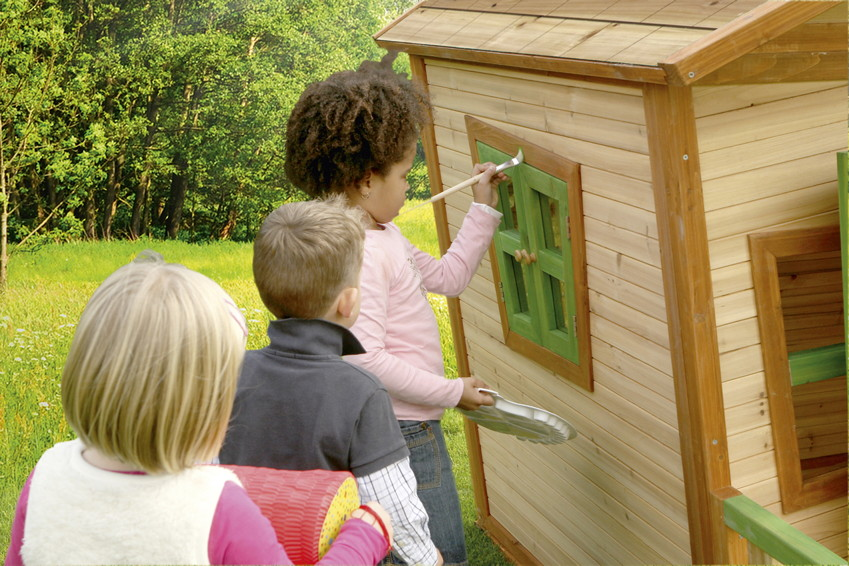 kinder spielhaus axi jesse holz comic kinderspielhaus. Black Bedroom Furniture Sets. Home Design Ideas